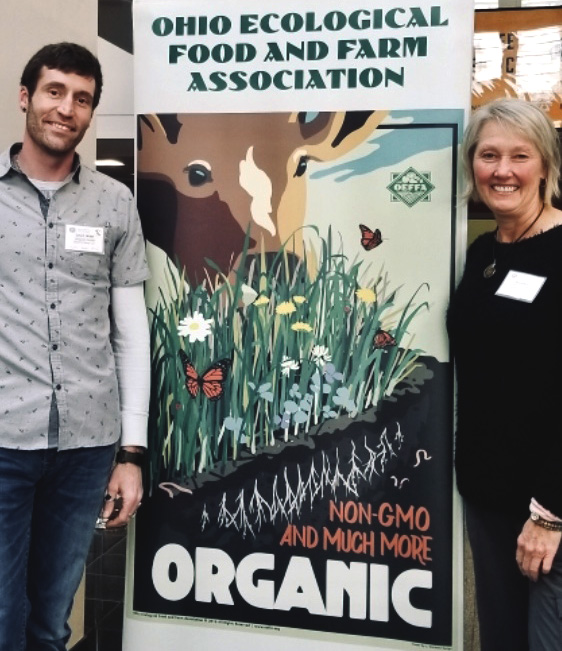 Owners of Sackett Farm supporting sustainable farming practices.